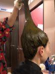 お店で天然素材の毛染め  ヘナ体験